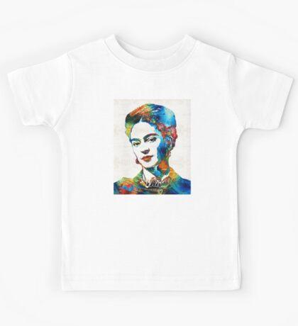 Frida Kahlo Art - Viva La Frida - By Sharon Cummings Kids Tee
