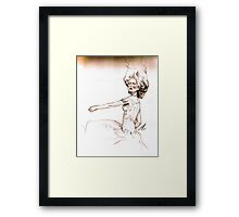 Dancing with the daffodils Framed Print