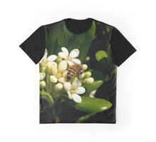 Honeybee at Her Springtime Work Graphic T-Shirt