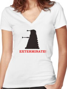 Exterminate - Doctor Who Women's Fitted V-Neck T-Shirt