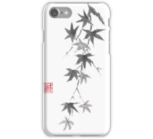 Star rain sumi-e painting iPhone Case/Skin
