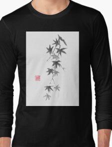 Star rain sumi-e painting Long Sleeve T-Shirt