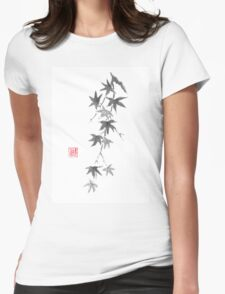 Star rain sumi-e painting Womens Fitted T-Shirt