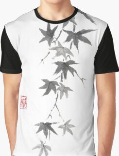 Star rain sumi-e painting Graphic T-Shirt