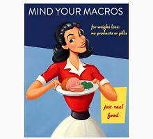 Vintage Mind Your Macros Advertisement, no rust Women's Fitted Scoop T-Shirt