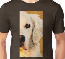 Golden Retriever Half Face by Sharon Cummings Unisex T-Shirt