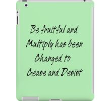 be fruitful and multiply iPad Case/Skin
