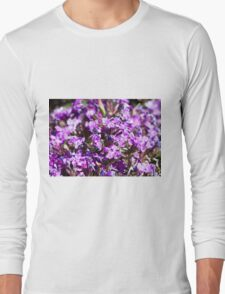 Tiny Bright Purple Flowers Long Sleeve T-Shirt