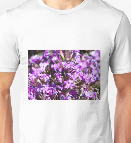 Tiny Bright Purple Flowers Unisex T-Shirt