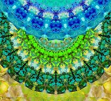 Chakra Mandala Healing Art by Sharon Cummings by Sharon Cummings