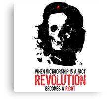 Che Skull Revolution Canvas Print