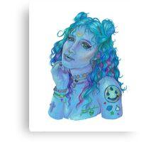 Space Grunge Girl Canvas Print