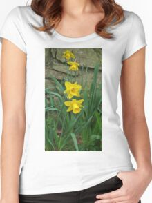 Garden Daffodils Women's Fitted Scoop T-Shirt