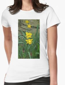 Garden Daffodils Womens Fitted T-Shirt