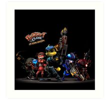 Ratchet And Clank Warrior In Action Art Print