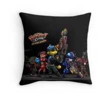 Ratchet And Clank Warrior In Action Throw Pillow