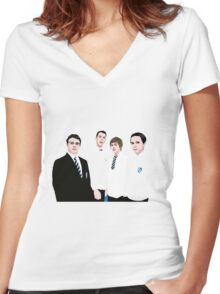 The Inbetweeners Women's Fitted V-Neck T-Shirt
