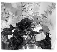 BLACK & WHITE BOUQUET Poster