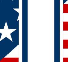 UD Patriotic Logo Sticker