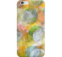 Silver Green Yellow Circles iPhone Case/Skin