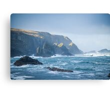 Cliffs at Port, Glencolmcille Canvas Print