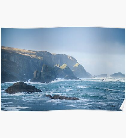 Cliffs at Port, Glencolmcille Poster