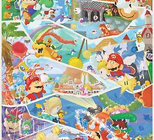 30 years of Mario (Only 75!) by orioto