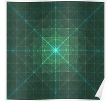 Grid Essence | Original Fractal Art  Poster