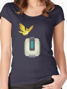 Minimalist Bastion and Ganymede Women's Fitted Scoop T-Shirt