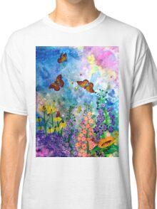 Butterfly Garden (rectangle) Classic T-Shirt