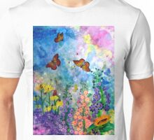 Butterfly Garden (rectangle) Unisex T-Shirt
