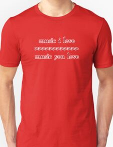 Music I Love - red ink T-Shirt