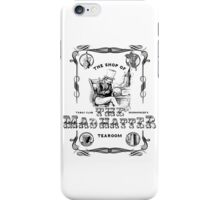 The Mad Hatter, the hatter, le chapelier fou, Alice in Wonderland, printmaking, iPhone Case/Skin