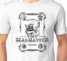 The Mad Hatter, the hatter, le chapelier fou, Alice in Wonderland, printmaking, Unisex T-Shirt