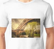 Eiffel Tower Paris Footprint Vintage Unisex T-Shirt