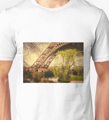 Eiffel Tower Paris Footprint Vintage Unisex T-Shirt