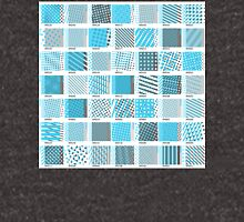 Halftone Moiré - Blue and Gray Pullover