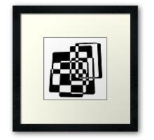 Abstract Black & White Squares Framed Print