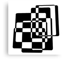 Abstract Black & White Squares Canvas Print