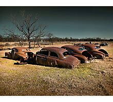 Field of Abandoned Chevys Photographic Print