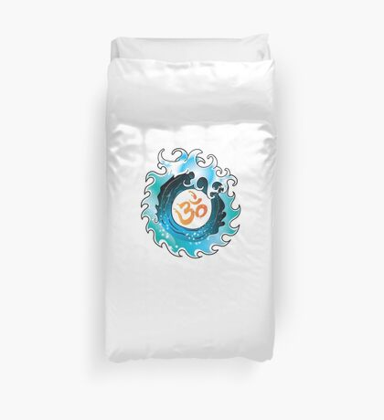 Yoga Infinity Wave with Ohm Duvet Cover