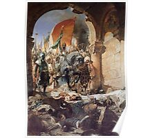 GEORGES JULES VICTOR CLAIRIN - The Entry of Mehmet II into Constantinople Poster