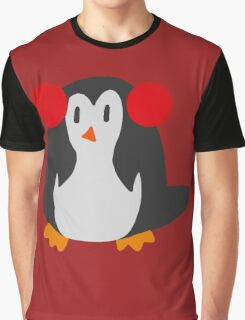 Earmuffs Penguin Graphic T-Shirt