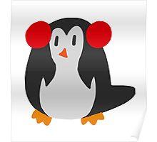 Earmuffs Penguin Poster