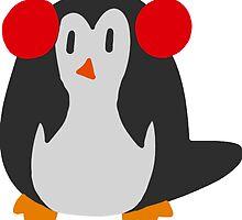 Earmuffs Penguin by SaradaBoru
