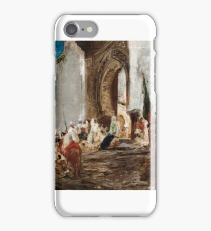 GEORGES-JULES-VICTOR CLAIRIN ; THE ENTRANCE OF THE OUASSAM CHEIK IN THE MOSQUE, TETOUAN (MOROCCO)   iPhone Case/Skin