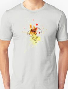 Abstract Frankincense Flower with Watercolor bursts and splashes T-Shirt