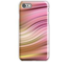 Abstract modern wavy background elegant wave pink iPhone Case/Skin