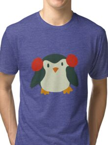 Cute Winter Penguin Tri-blend T-Shirt