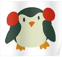 Cute Winter Penguin Poster